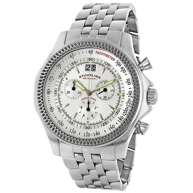Stuhrling Original Targa Swiss Chronograph Oversized Men's Watch