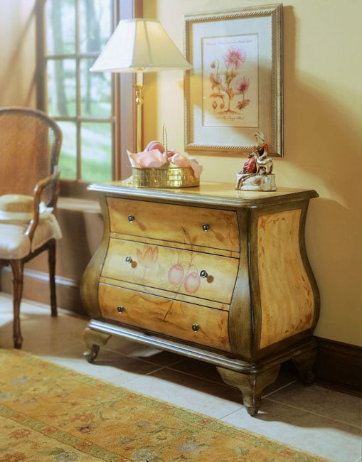 Hand Painted Golden Honey And Celery Bombay Chest Free