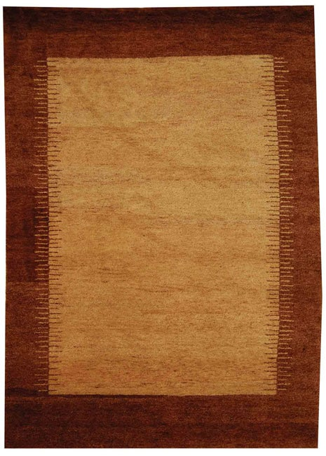 Safavieh Hand-knotted Gabeh Solo Caramel Wool Rug (6' x 9')