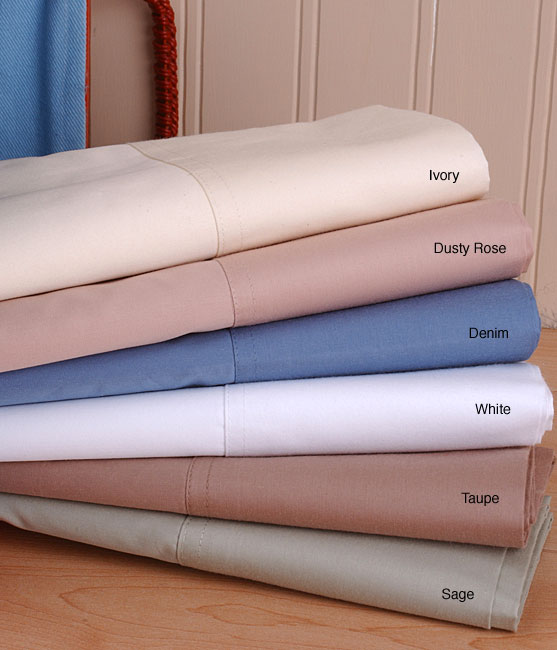 400 Thread Count Solid Sateen Egyptian Cotton Sheet Set