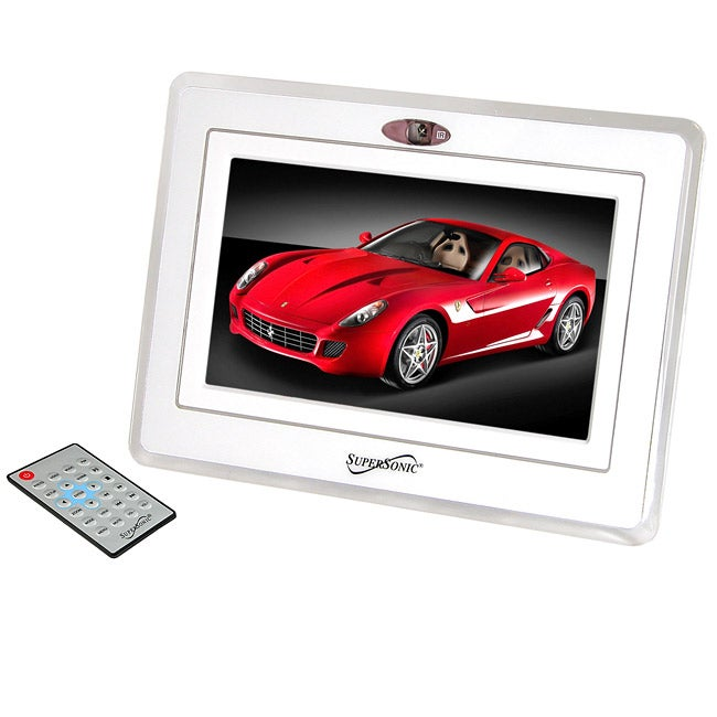 Shop Digital 7 Inch Picture Frame With Alarm Clock Free Shipping
