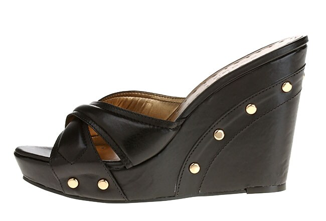 bbc78ff80bd Shop BCBGirls Uovo Women s Open Toe Wedge Slip-ons - Free Shipping ...