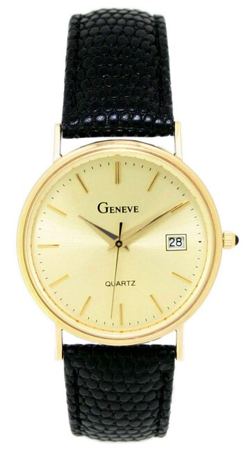 Geneve Men S 14k Solid Gold Watch Free Shipping Today