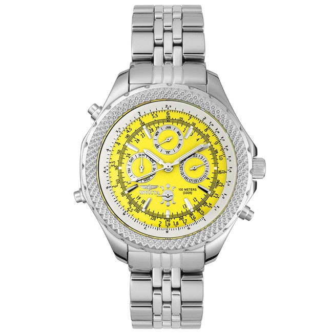Invicta Men's Yellow Dial Multi-function Watch