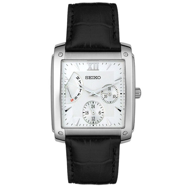 Seiko Men's Silver Dial Multi-function Watch