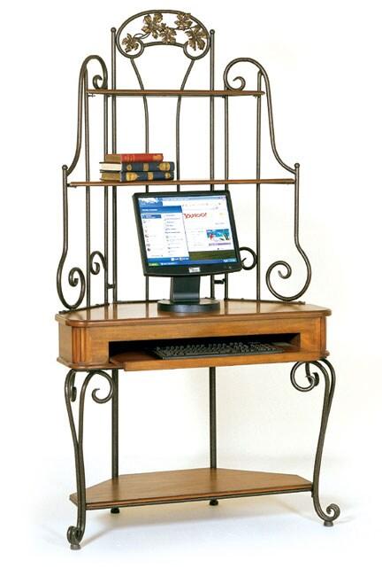 Baker's Rack Corner Computer Desk - Free Shipping Today - Overstock
