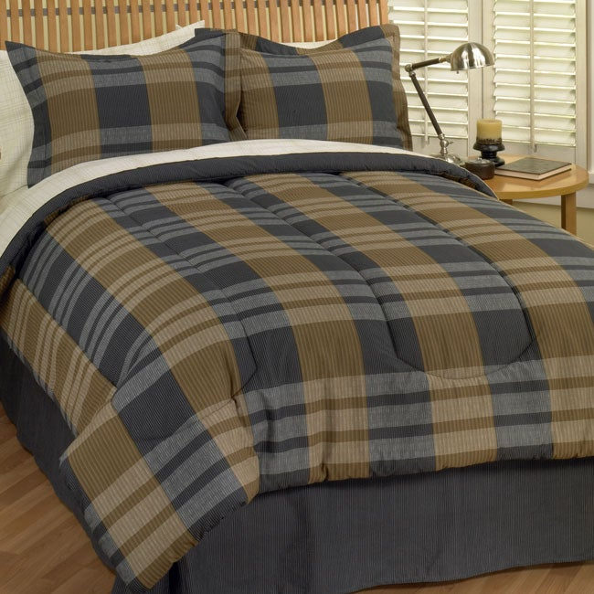 af0ac895179 Shop Kenzo Plaid Comforter Set - Free Shipping Today - Overstock - 2295870