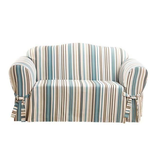 Jasper Stripe Washable Sofa Slipcover