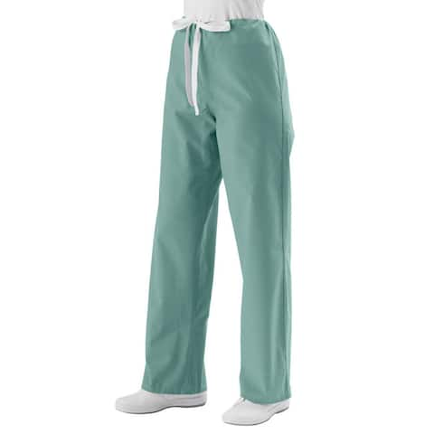 Medline Misty Green Unisex Drawstring Scrub Pants