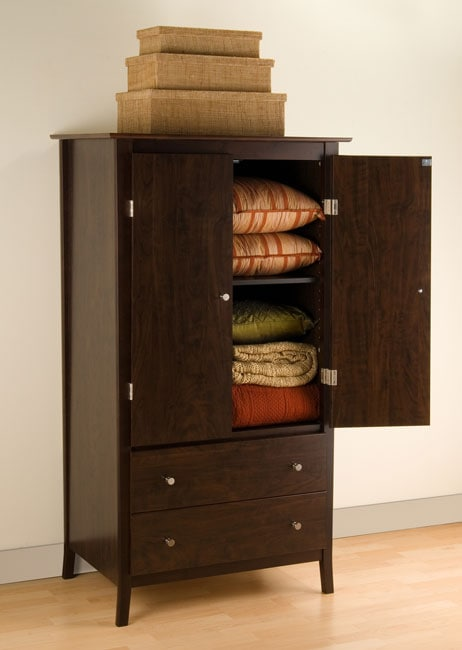 Everett Espresso 2-drawer Armoire