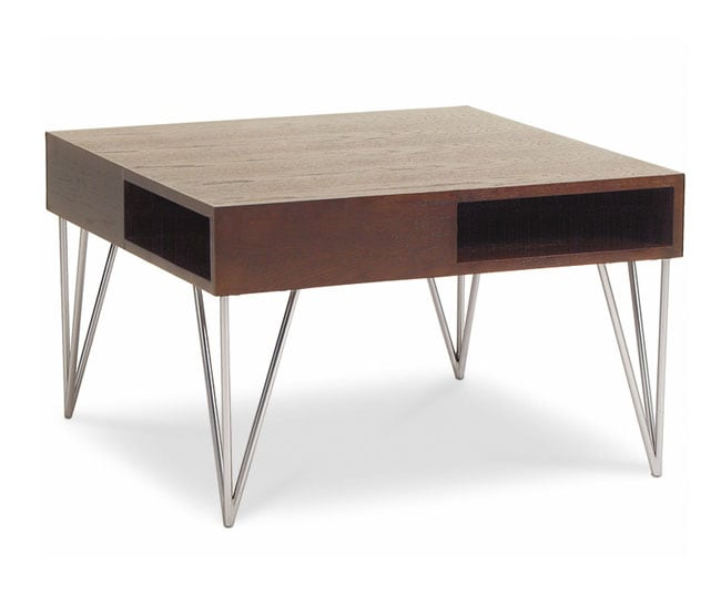 Snap Walnut Small Square Coffee Table
