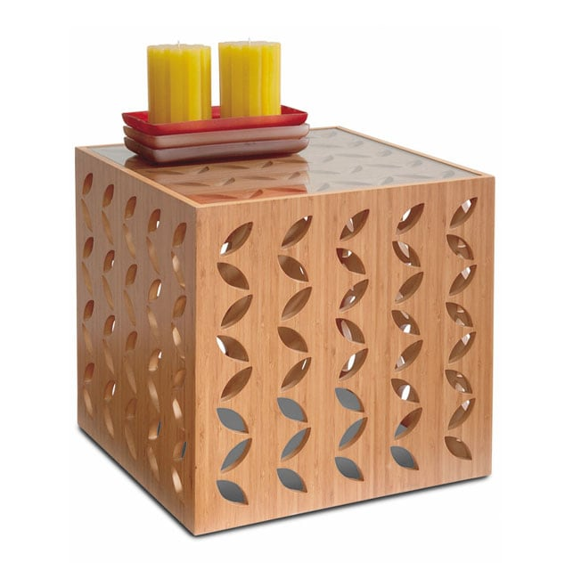 Bamboo Cube Side Table