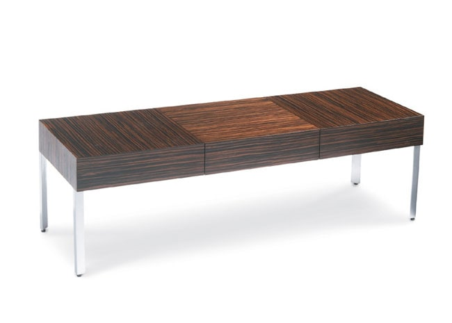 martin zebrawood 3-drawer coffee table - free shipping today