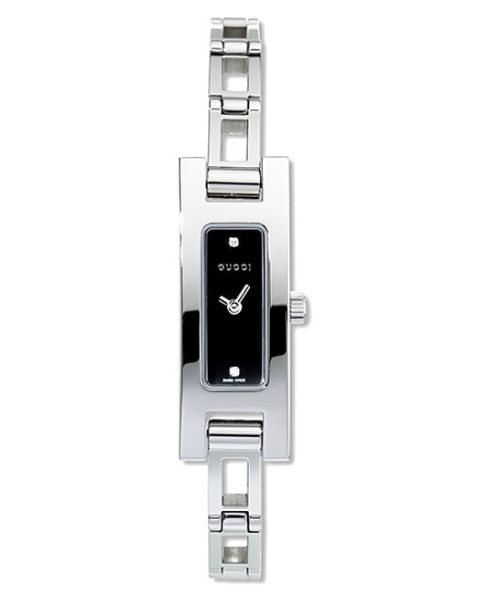 a985b6b715f Shop Gucci 3900 Series Womens Black Dial Steel Watch - Free Shipping Today  - Overstock - 2299340