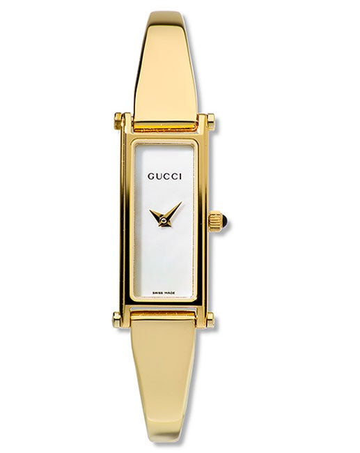 1e24a168fd52 Shop Gucci 1500 Series Womens White Dial Goldtone Watch - Free Shipping  Today - Overstock - 2299371