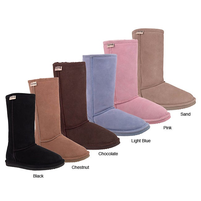 BearPaw Suede Boots with Shearling Lining