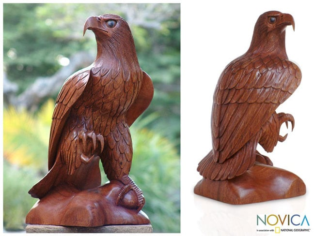 Wooden Eagle Rules the Sky Statue (Indonesia)