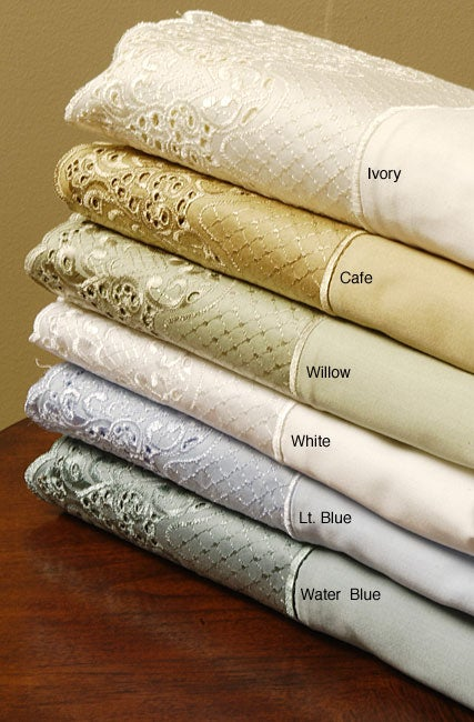 Amelia Lace 300 Thread Count Sateen Sheet Set - Thumbnail 0