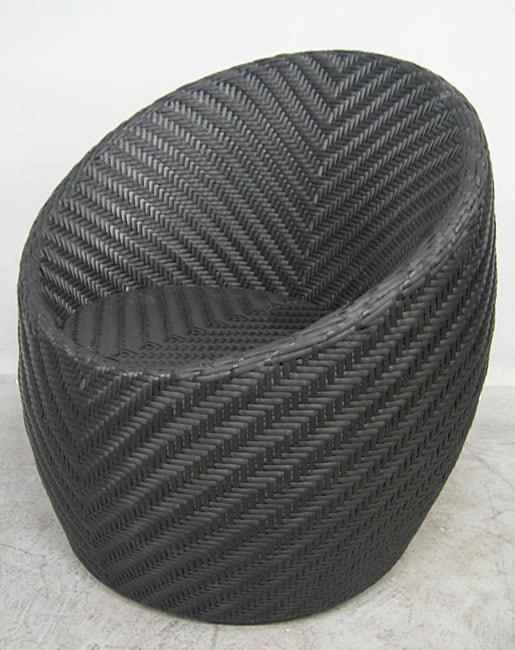 Monaco 32 Inch Steel And Wicker Outdoor Barrel Chair