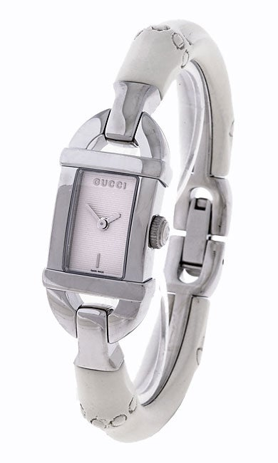 c7ab1220bc9 Shop Gucci Women s Silver Dial Bamboo Watch - Free Shipping Today -  Overstock - 2325167