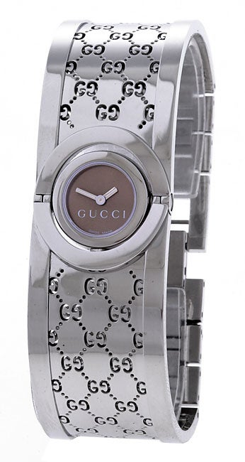 f3e8da4868e Shop Gucci Women s YA112501  Twirl  Small Stainless Steel Bangle Watch -  Free Shipping Today - Overstock - 2325190