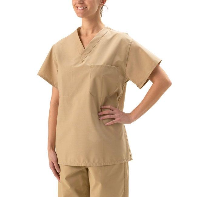 Best Medical Unisex Reversible S//S V Neck Scrub Top w// Pocket Misty Green Size L