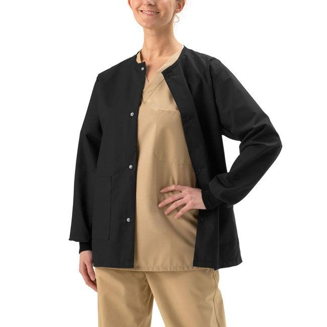 94c61edaabc Shop Medline Unisex Two-pocket Black Warm-up Jacket - Free Shipping On Orders  Over $45 - Overstock - 2325238