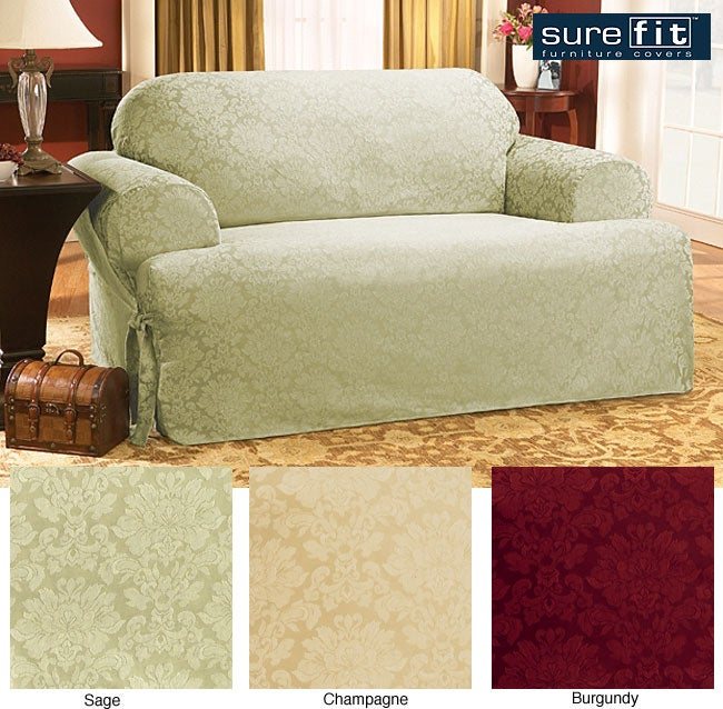 Sure Fit Normandy Damask T Cushion Sofa Slipcover