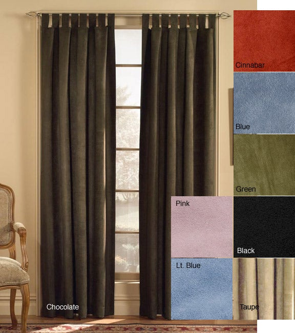 Microsuede Tab Top Curtain Panel (50 in. x 120 in.) - Thumbnail 0