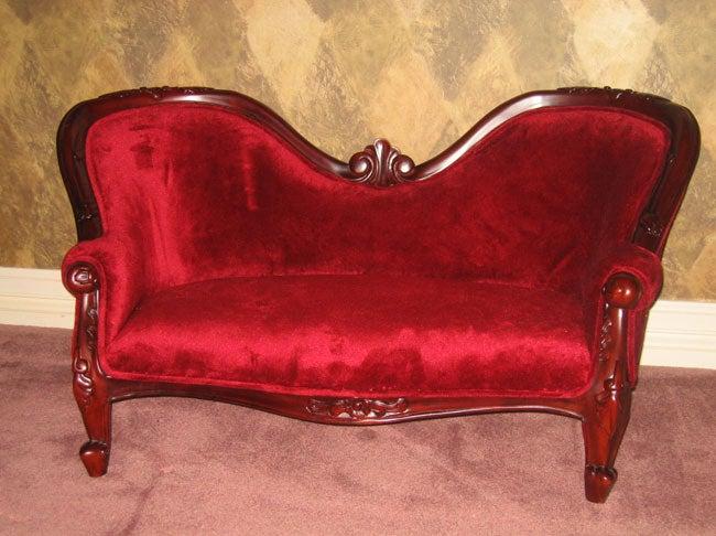 Children's Mahogany Double End Sofa