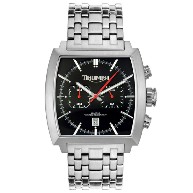 triumph motorcycles tiger steel chronograph watch - free shipping