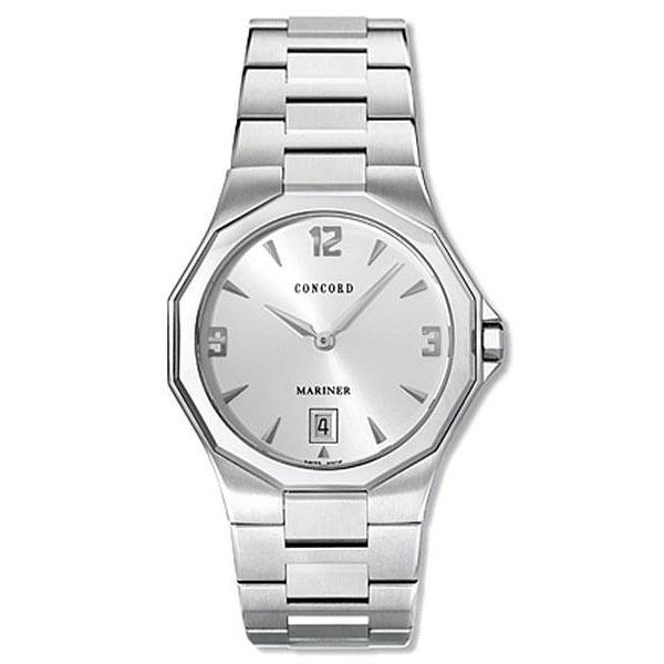 concord mariner men s silver dial luxury watch shipping concord mariner men s silver dial luxury watch