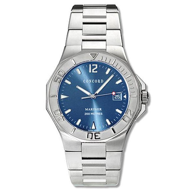 concord mariner men s blue dial automatic watch shipping concord mariner men s blue dial automatic watch