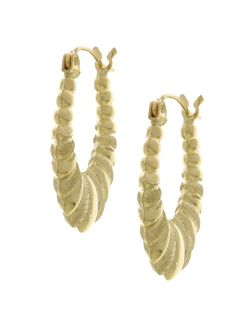gold shrimp earrings 14k yellow gold shrimp hoop earrings free shipping today 7423