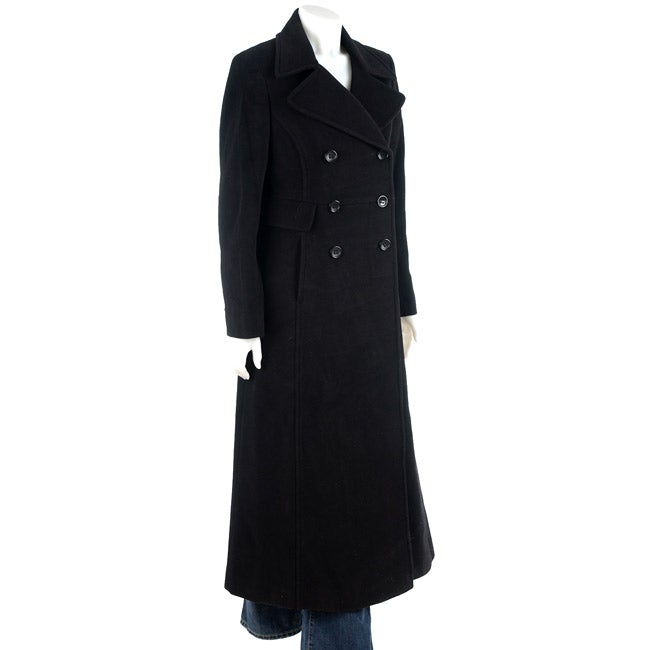 DKNY Double Breasted Maxi Coat