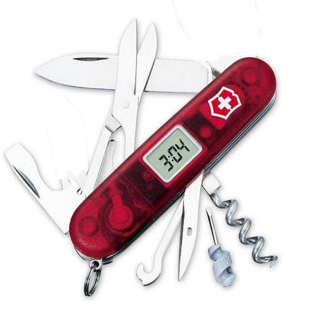 Swiss Army Knife with Digital Timekeeper and Alarm