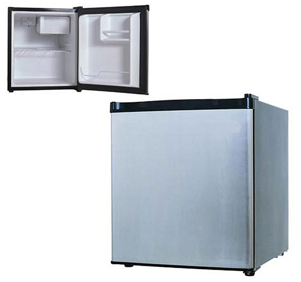Shop 1 7 Foot Stainless Steel Compact Refrigerator Free