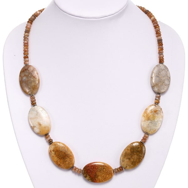 Fossil Coral and Tiger's Eye Necklace