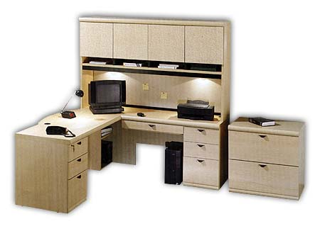 Shop Hutch U0026 U0027Lu0027 Workcenter By Ou0027Sullivan   Free Shipping Today    Overstock.com   1063