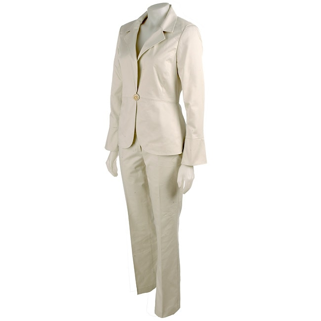 Focus 2000 Cream Women's Pant Suit - Free Shipping Today