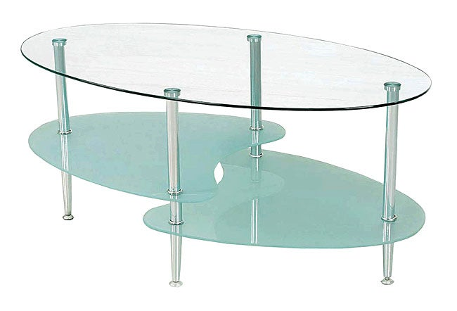 modern 30-inch wave coffee table - free shipping today - overstock