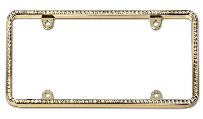 Shop Diamondesque Gold License Plate Frame - Free Shipping On Orders ...