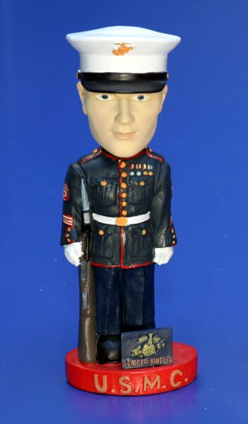 Marine Corps Handcrafted Ceramic Bobble Head Free