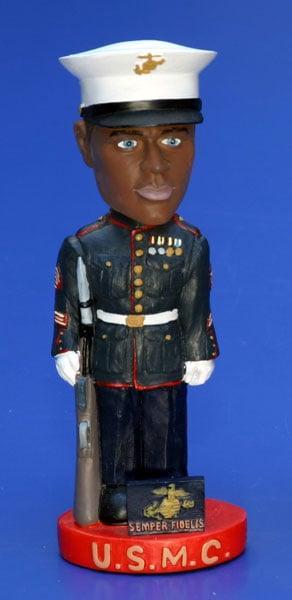 Shop Marine Corps Handcrafted Ceramic Bobblehead Free