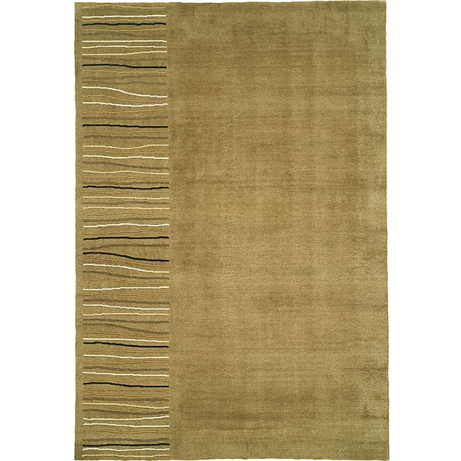 Nourison Khaki Wool/Silk Rug (8'3 x 11')