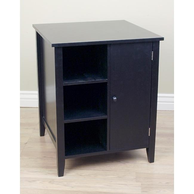 Black End Storage Table Free Shipping Today Overstock