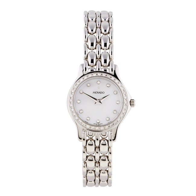 Movado Collection Women's White Gold Diamond Watch