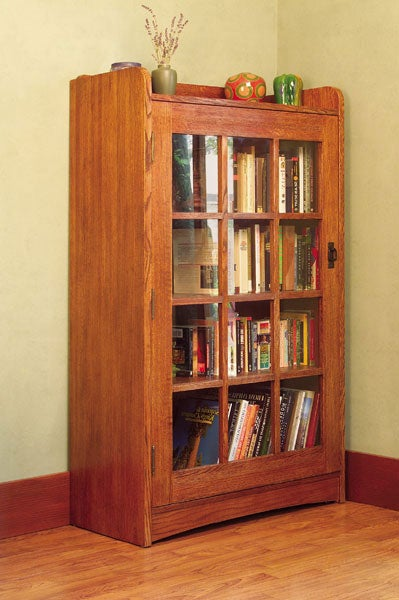 Mission Solid Oak Bookcase With Gl Door