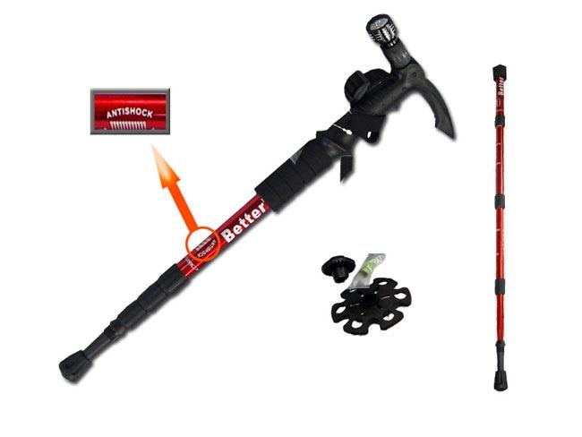All-Season Adjustable  Hiking Stick w/ LED Light
