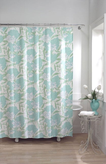 Shop Waterlily Puffed Metallic Shower Curtain